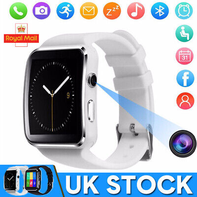 X6 Smart Watch Camera Smartwatch Bluetooth Touch Screen fits iPhone/Android/IOS