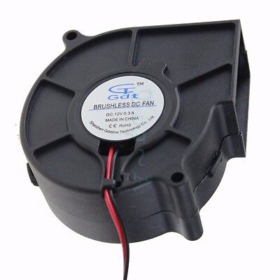 75mm 12v Brushless DC Blower Cooling Fan Exhaust Fan 2Pin 75x30mm Computer