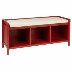 BRAND NEW RED OPEN STORAGE BENCH