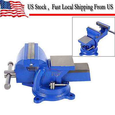 4 Heavy Duty Work Bench Vice Vise Workshop Clamp Engineer Jaw Swivel Base Table