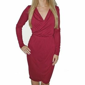 Wholesale Ladies Wrap Dress F&F Sizes 6 to 22 Black Red