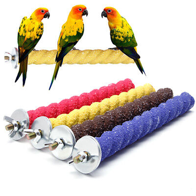 2*16cm Colorful Pet Bird Cage Stand Platform Perch Paw Grinding Parrot Parakeet