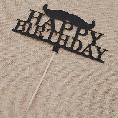 Moustache Design Cupcake Topper DIY Birthday Decor Party Bakery Cake Topper Cute - Mustache Birthday Cake