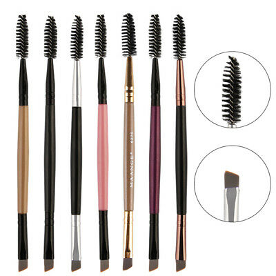 Double Sided Ended Eyebrow Brush Wand Brow Shaping Angled Eyelash Makeup Hot