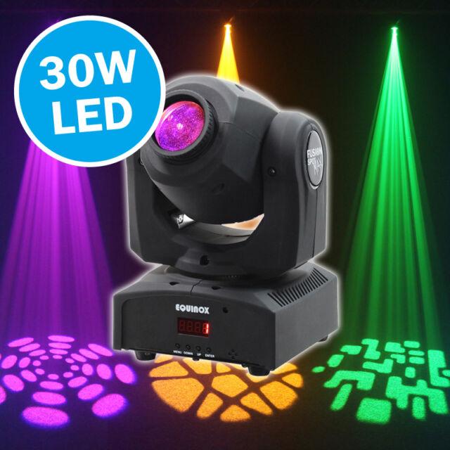 Equinox Fusion Spot Max 30W LED Moving Head DJ Disco Lighting