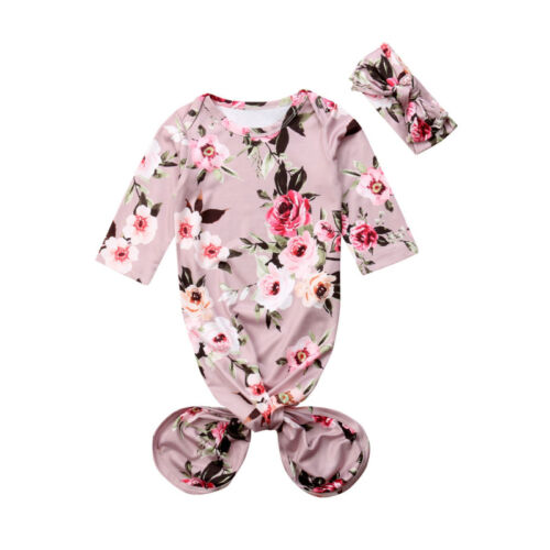 Canis Newborn Baby Girl Swaddle Receiving Blanket Headband Flamingos Sleeping Bag