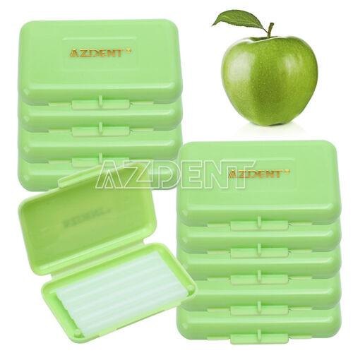 100 Boxes AZDENT Dental Orthodontic Wax for Bracket Gum Irritation Apple Scent