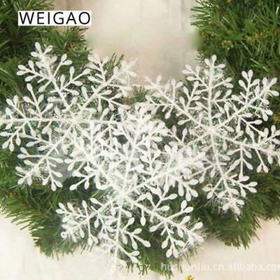 Plastic Snowflakes Bulk (30pcs Christmas Tree Snowflake Decor White Ornaments Home Party Xmas)