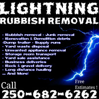 Junk removal -Hauling -Merritt, Chase, Barriere, Clearwater