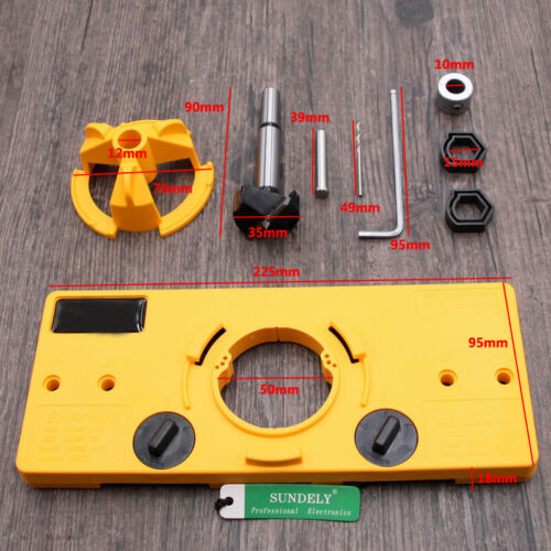 35MM Cup Style Hinge Boring Jig Drill Guide Set Door Hole Template For Kreg W5H2