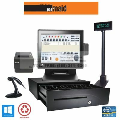 Liquor Store Pos Complete System Wretail Maid Pos Software - 8gb I5 Cpu Ssd Hdd