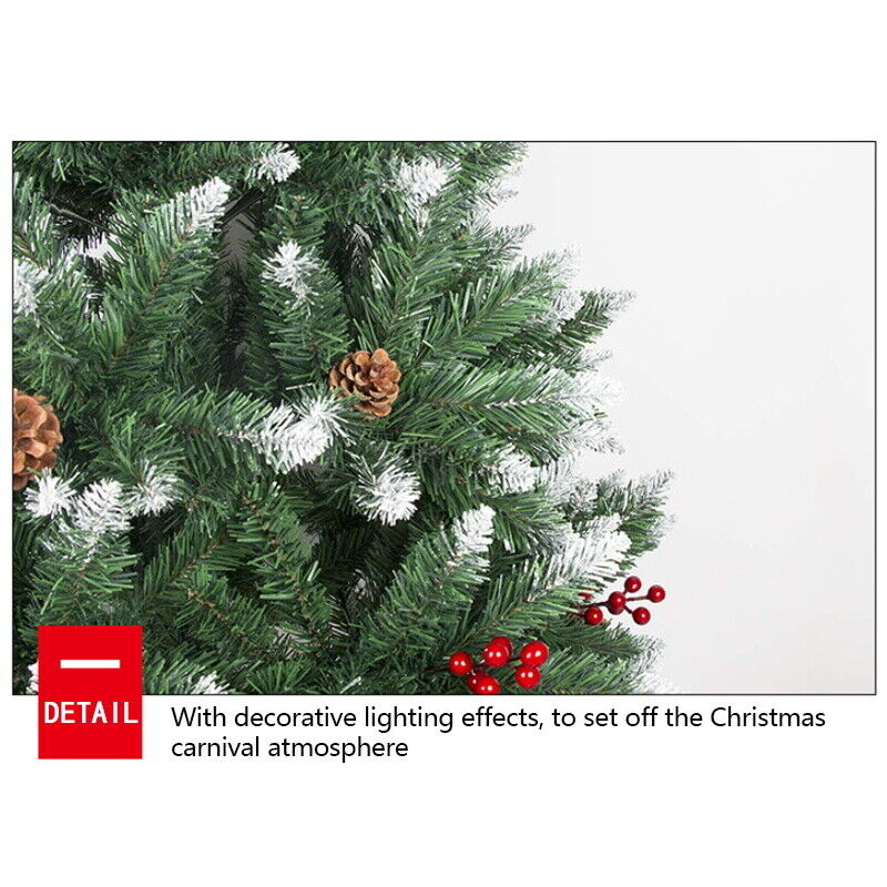 Christmas Tree Xmas 3FT 4FT 5FT 6FT 7FT 8FT With Metal Stand Home Decor Holiday