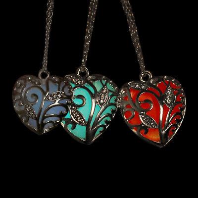 tkugel Stein leuchten glühen silber hellblau lila rot (Lila Glühen Halsketten)