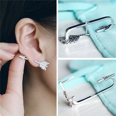 Kreative Mode (Kreative Bogen Pfeil Kristall Ohrstecker Damenmode Ohrringe Schmuck Geschenk UE)