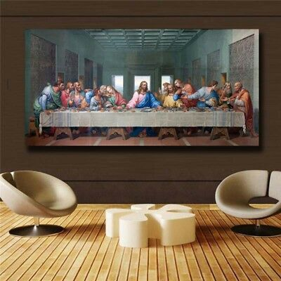 "Leonardo Da Vinci ""The Last Supper"" HD print on canvas huge wall picture (31x63)"