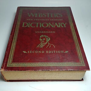Rare WEBSTER'S NEW TWENTIETH CENTURY DICTIONARY Unabridged 1957