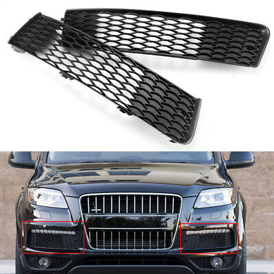 Pair Front Left+Right Bumper Lower Grille Fog Light For AUDI Q7 S-Line 2009-2015