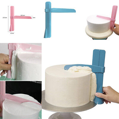 Adjustable Fondant Cake Scraper Smoother Icing Piping Cream Spatula Edges (Cream Piping)