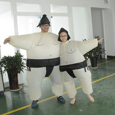 Sumo Sumou Wrestler Cosplay Costume Halloween Funny Dress Inflatable Suit