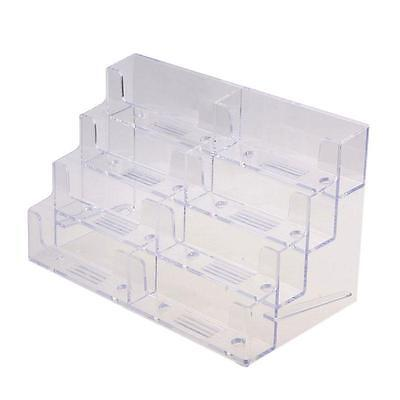 8-pocket Clear Acrylic Counter-top Business Card Holder