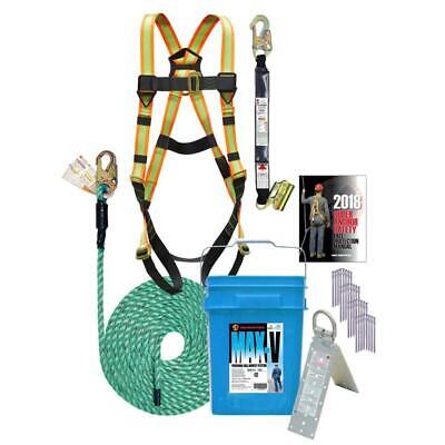 Max-v Roof Safety Kit - With 50ft Rope And Bucket