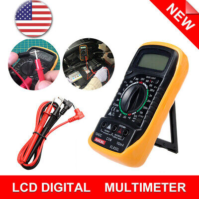 Usa Digital Multimeter Lcd Voltmeter Ammeter Ohmmeter Ohm Volt Tester Be