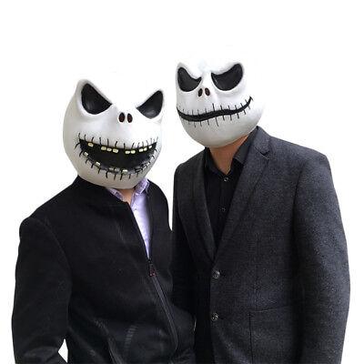 The Nightmare Before Christmas Skellington Latex Mask Movie Cosplay Costume Prop