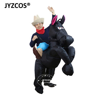 Horse Rider Costume Cowboy Dress Inflatable Blow Up Suit Men Women Party Cosplay - Man Horse Costume