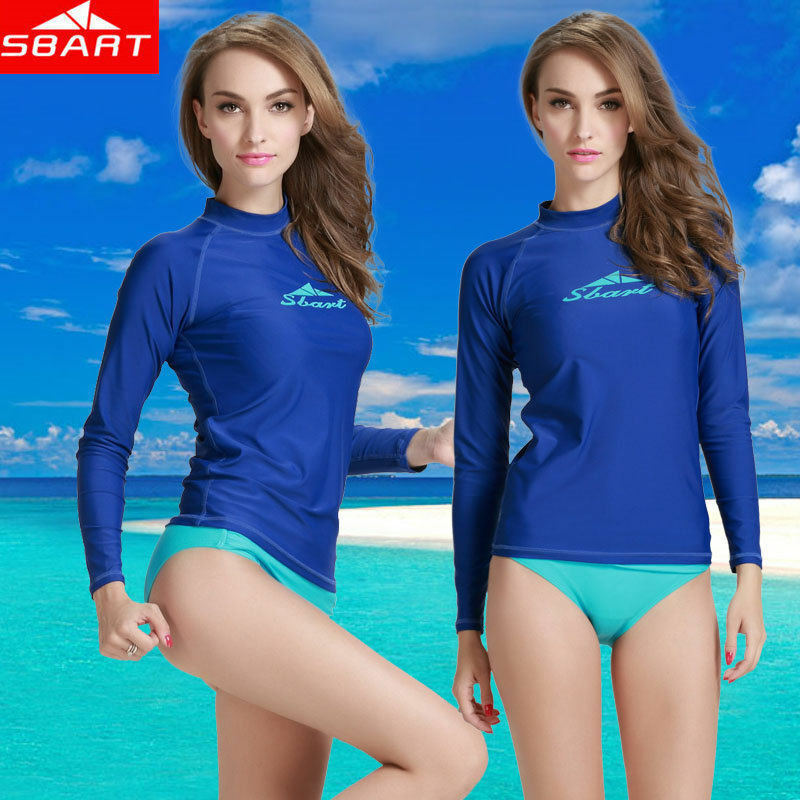 Women's Long Sleeve UV Protection Sun Shirt Rash Guard Base