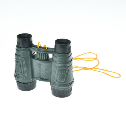 1x plastic kid children magnification toy binocular telescope + neck tie strapVQ
