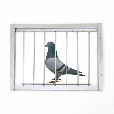 1x Bob Wires Bars on Frame Entrance Tumbler For Racing Pigeon Loft Birds Silver