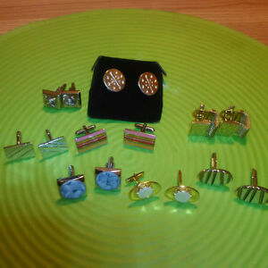 VARIOUS SHIRT CUFF LINKS ** 2 PAIR FOR $25.00 + 3 for $35