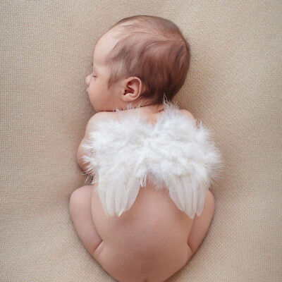 1 Pc Lovely Newborn Baby Angel Wings Costume Photo Photography Prop Tool Random](Baby Angel Costume)