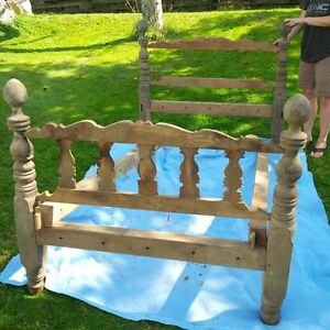Antique All Wooden Twin Bed