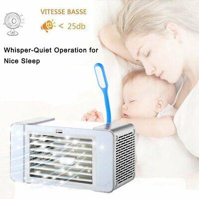 Mini Portable Air Cooler Conditioner Fans USB Home Desktop Air Conditioning Unit