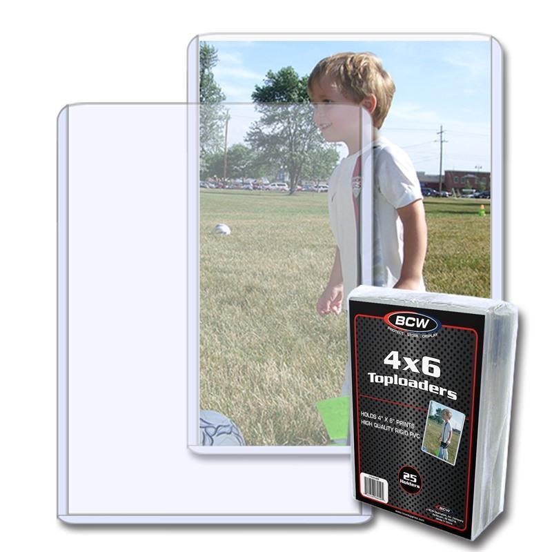 50 BCW 4 x 6 POSTCARD / PHOTO RIGID HARD PLASTIC TOPLOAD HOLDERS 4x6