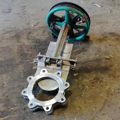 Rovalve 150psi 6 Knife Gate Valve S17-d Mssvit W Sprocket Wheel 2-12