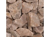 20mm Rose Quartz Chip, £89 Per Bulk Bag or £4.74 per 25kg bag.