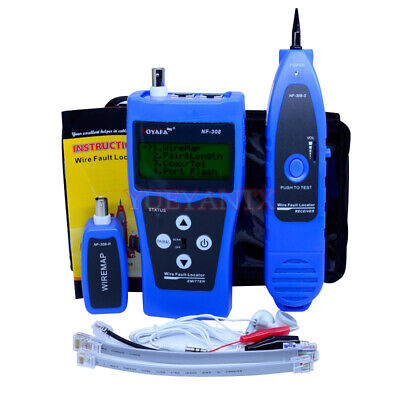 Network Monitoring Cable Tester LCD NF-308 Wire Fault Locator LAN Network Blue - Lcd Network Monitor
