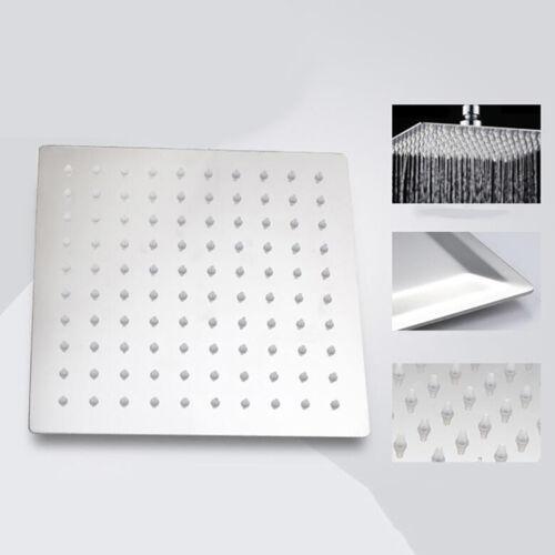 4//6//8//10//12/'/' Stainless Steel Shower Head Rainfall Bathroom Sprayer Round Square