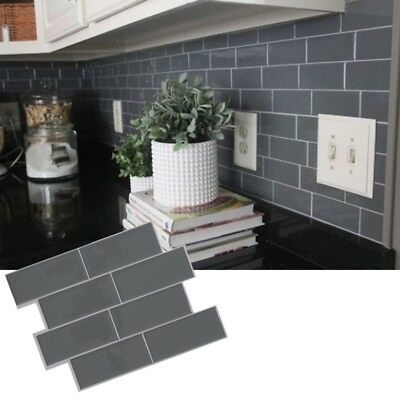 1920 Home Decorating Ideas 3D Grey Subway Tile Peel And Stick Self Adhesive Wall Sticker Home Decor  Gothic Home Decorating