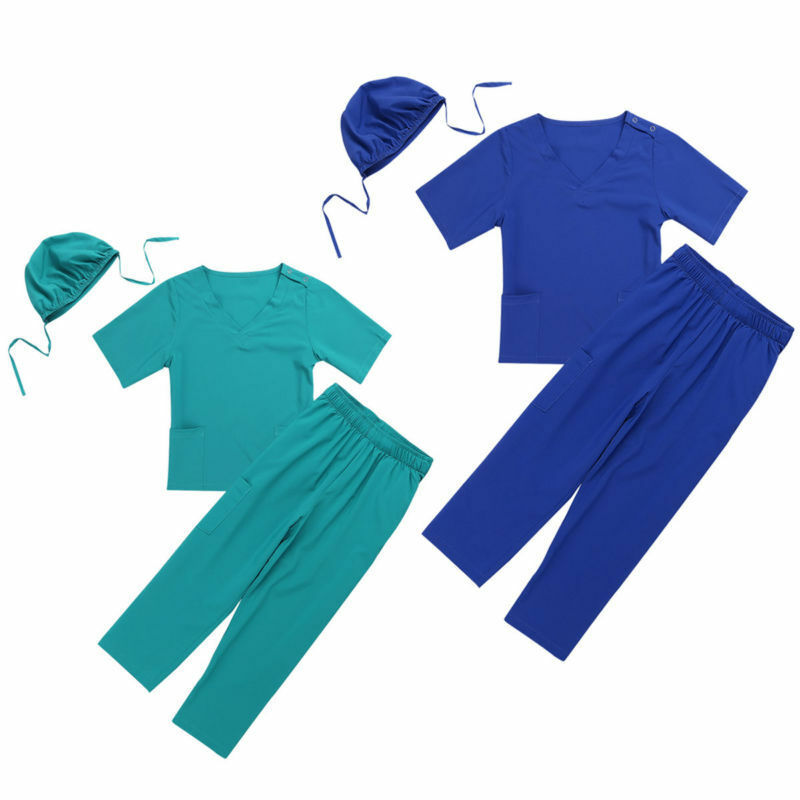 Child Doctor Nurse Uniform Fancy Dress Costume /& Stethoscope Surgeon Ages 2-14