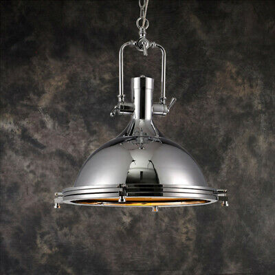 Polished Chrome Dome Pendant Light with Frosted Glass Diffuser Hanging Light USA