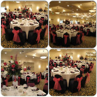 PRESSED CHAIR COVERS FOR RENT ON SPECIAL FOR ONLY .89 CENTS!!!
