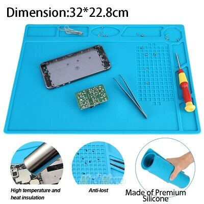 Anti-static Work Surface Mat Pad Heat Insulation Silicone Repair Tool For Phones