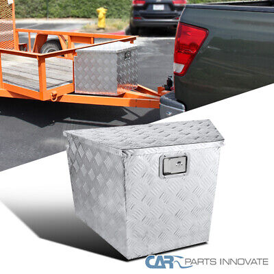 "Truck Pickup Aluminum Underbody Tongue Tool Box Trailer Storage w/ Lock 29""x 15"""