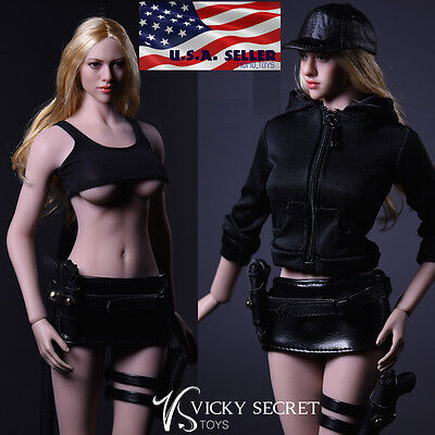 1 6 Tactical Military Jacket Skirt Set For 12  Phicen Hot Toys Female Figure