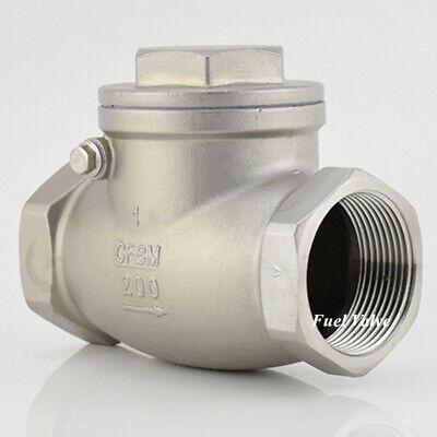 1 Inch Swing Check Valve Npt Stainless Steel Non-return Water Oil Gas