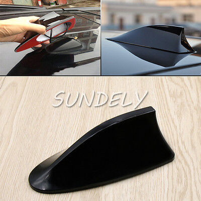 Black Car Radio FM/AM Signal Aerial Shark Fin Antenna For Vauxhall Audi Corsa