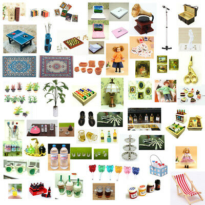 Dolls House Miniature Scaled Model Mini Fairy Garden Tools Accessories Decor DIY - Fairy Decorations